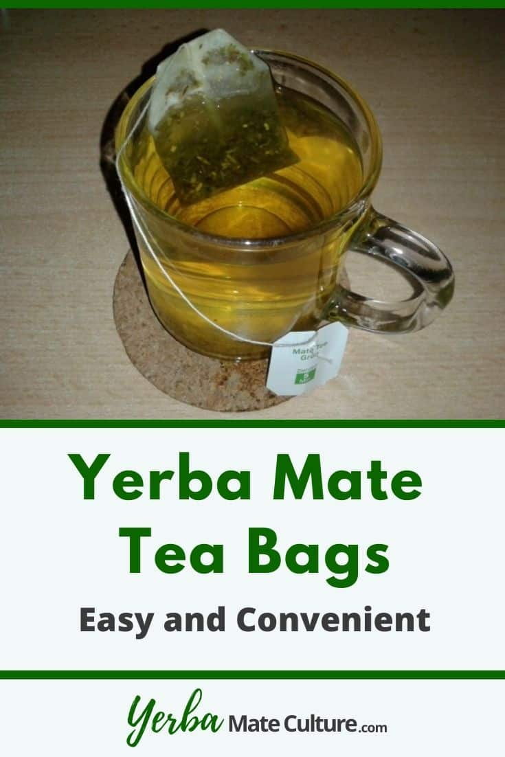 Yerba Mate Tea Bag in a glass