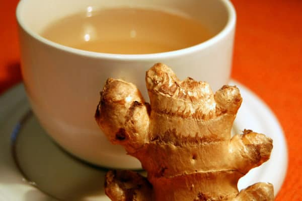 Ginger tea is one of the best herbal teas for acid reflux